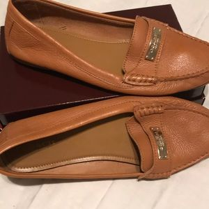 Coach Fredrica Caramel Color Leather Shoes